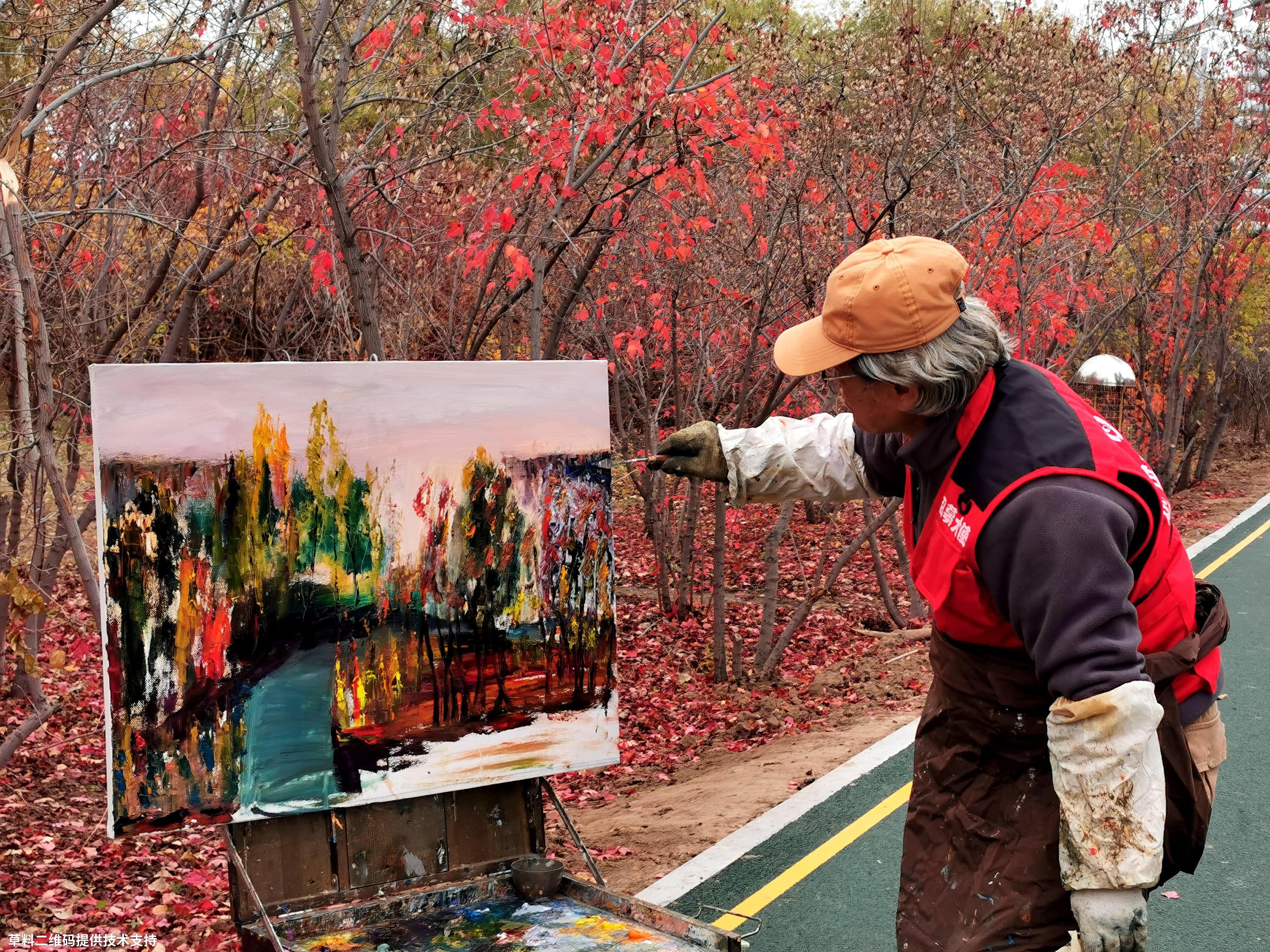 王洪图《画如人生》 HUAWEI,两鬓斑白的老画家在秋日里写生,好感人的场景,就此成片。.jpg
